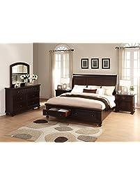 Roundhill Furniture Brishland Storage Bedroom.