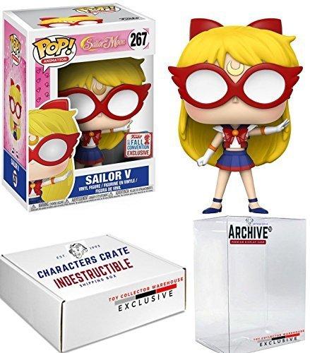 Funko Pop! NYCC Sailor Moon Sailor V, Limited Edition Fall Convention Exclusive, Concierge Collectors Bundle -
