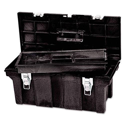 "Newell Rubbermaid Commercial 7802-00-BLA Tool Box, 26"", B..."