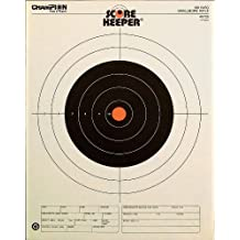 Champion Traps & Targets Score Keeper Fluorescent Orange Bull 100-Yard Small Bore Rifle Target (Pack of 12)