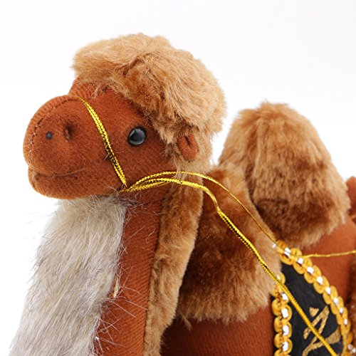 Fenteer Plush Stuffed Animal Cute Camel Doll with Bell for Kids Birthday Gift 23cm ()