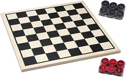 Basic Checker Set with Crown Checkers - Made in USA