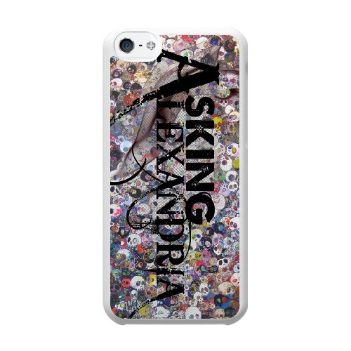 Coque,Coque iphone 5C Case Coque, Asking Alexandria Right Now Cover For Coque iphone 5C Cell Phone Case Cover blanc