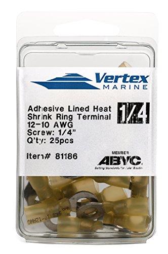 EWCS Ring Terminal Marine Grade - Adhesive Lined Heat Shrink - A81186-12-10 AWG - 1/4