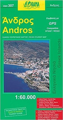Andros Greece 160 000 Visitors Map Orama Greece 9789789608270