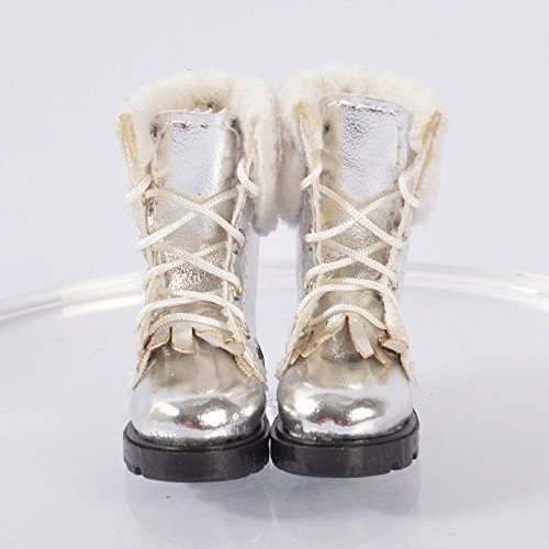 [Silver shoes boots for Lammily Doll Exclusive First Edition Barbie Doll Doll Accessories] (Chucky Costume Shoes)
