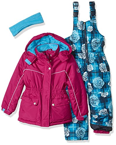 Pink Platinum Little Girls' Insulated Two-Piece Better Snowsuit, Berry, 4 by Pink Platinum