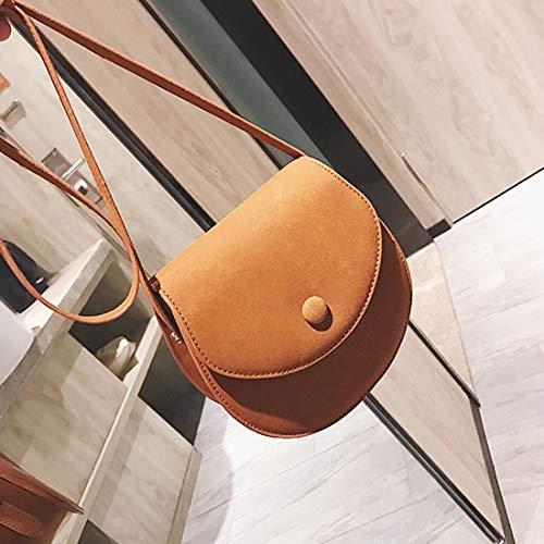 Bolso Brown Bolsa La De Del Asas Cuero color Klerokoh Brown Señora Moda Para ZYnPwB