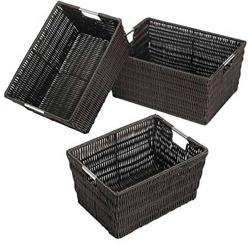Stainless Steel Frame Basket (10-Sets of 3)(30 Baskets) by suppliesforgiftbasket
