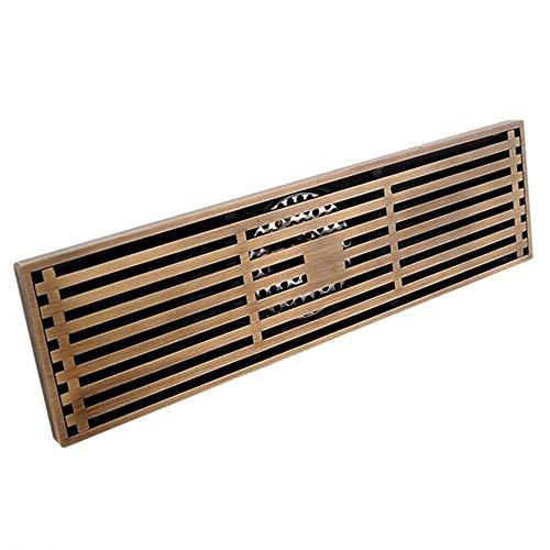 Brass Waste Strainer - Antique Brass Shower Drain Embedded Shower Waste Drain Floor Anti-clogging Bathroom Bath Hotel Drain