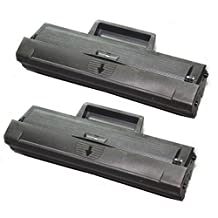 2PK Shopcartridges® Toner Cartridge MLT-D104S (MLTD104S) Compatible for Samsung ML-1660 ML-1865 SCX-3200 Black SCX-3205 SCX-3205W SCX-3200 SCX-3200W ML-1865 ML-1865W ML-1660 ML-1660N ML-1665 ML-1670 ML-1675