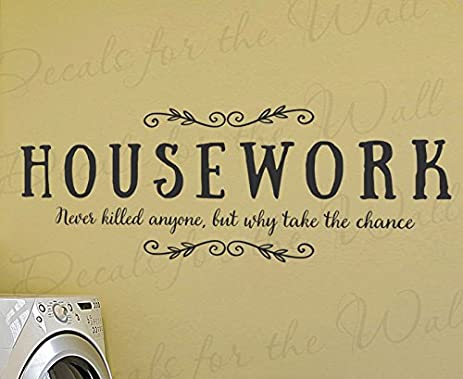Amazon.com: Housework Never Killed Anyone But Why Take The Chance ...