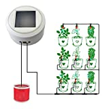 AiHitech Solar Automatic Watering Flowers System with Smart Timer Irrigation Controller for Indoor Outdoor Garden Plants