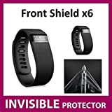 Protecteur d'écran INVISIBLE Fitbit Charge HR Fit Bit Watch (x6 Protecteur Avant inclus) Protection Grade Militaire Exclusive à ACE CASE