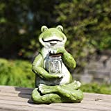 Ivy Home Green Frog Resin Garden Statuary for Outdoor Garden Decoration
