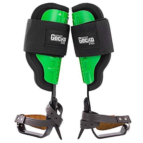 Notch Gecko Steel Climbers w/Tree Gaffs, Green
