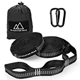 Gladiator Peak Hammock Straps, Hammock Tree Straps Set, Extra Long Lightweight Hammock Straps With Adjustable Loops,No Stretch Polyester,Tree Friendly,Quick&Easy Setup Best Suspension System (White)