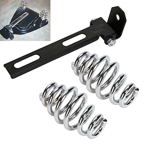 DLLL Uinversal Motorcycle Solo Seat 3'' Springs Bracket Mounting Kit For Harley Custom Softail Chopper Bobber Honda Yamaha Kawasaki Suzuki and Triumph Rigid Build or Any Custom Applications (Chopper Honda Kits)