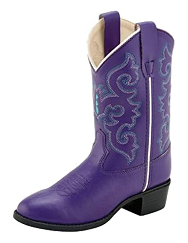 f6a3c43bf17 Old West Kids Boots Baby Girl's Pearlized Purple (Toddler/Little Kid)