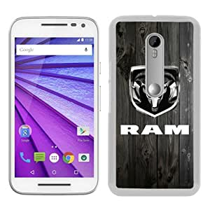 Unique Motorola Moto G 3rd Skin Case ,Ram Trucks white Moto G 3rd Gen Cover Fashionable And Durable Designed Phone Case