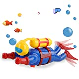 HenMerry Baby Bath Toy Wind Up Diver Swimming Tub Bathtub Cute Swimming Floating Wind Up Pool Toys for Kids (Multicolor)