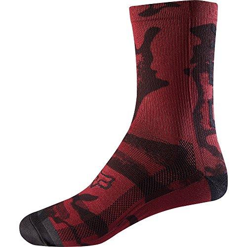 Fox Racing Trail Print 8in Sock - Women's Dark Red, One Size (Racing Print)
