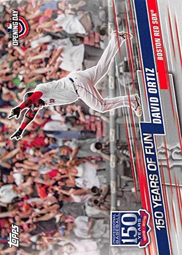2019 Topps Opening Day 150 Years of Fun Set #YOF-20 David Ortiz Red Sox MLB Baseball Card NM-MT
