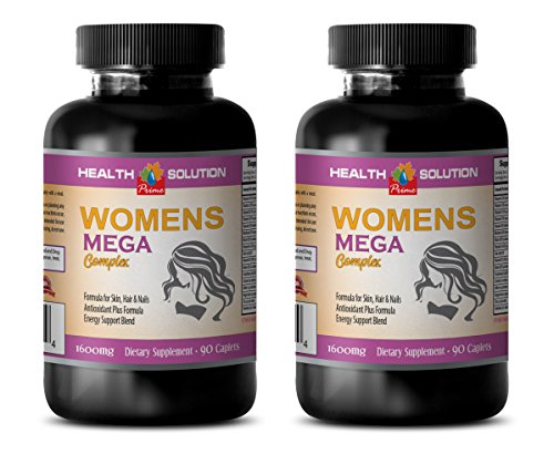 energy booster pills for women - WOMEN'S MEGA COMPLEX 1600 MG - grape seed extract for skin - 2 Bottles 180 Caplets by Health Solution Prime (Image #7)