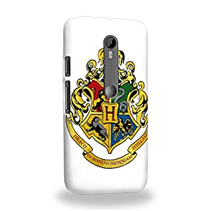 Case88 Premium Designs Harry Potter Hogwarts School of Witchcraft and Wizardry Sign 0920 Carcasa/Funda dura para el Motorola Moto G (3rd gen)