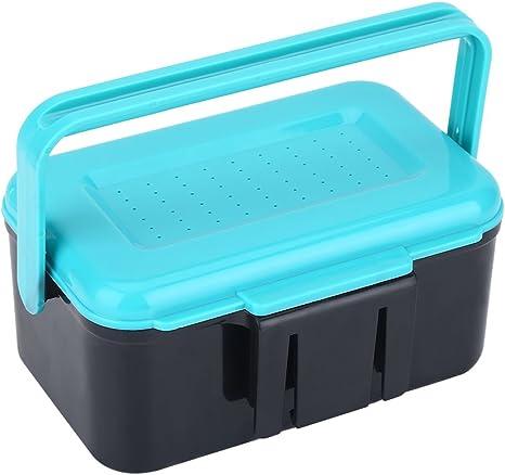 VGEBY Caja para Aparejos de Pesca plástico con 2 Compartimentos para cebos de Cebo: Amazon.es: Deportes y aire libre
