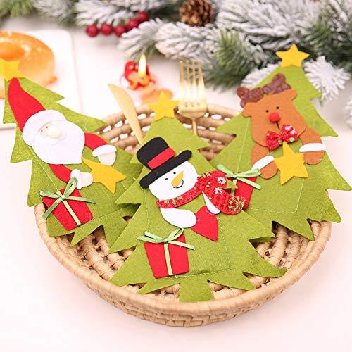 CHoppyWAVE Cutlery Pouch, Christmas Tree House Santa Elk Snowman Xmas Dinner Table Decor Spoon Knife Pouch - 4# by CHoppyWAVE (Image #7)