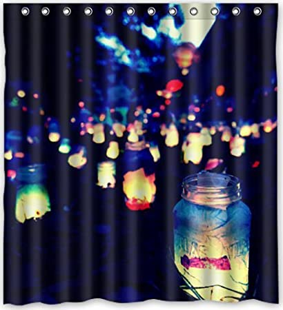 Cool Design Beautiful Firefly At Night Shower Curtain 66quotw X 72quot
