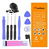 Uowlbear 1560mAh IP 5S/5C Battery Replacement for iPhone 5S A1453 A1457 A1518 A1528 A1530 A1533 and iPhone 5C A1456 A1507 A1516 A1529 A1532 with Tools Kit -3 Year Warranty