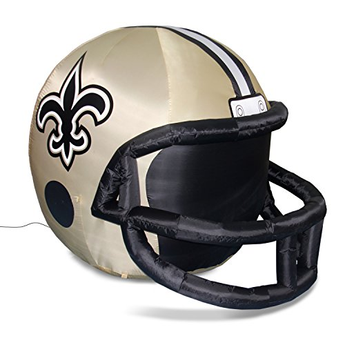 NFL New Orleans Saints Team Inflatable Lawn Helmet, Gold, One Size -