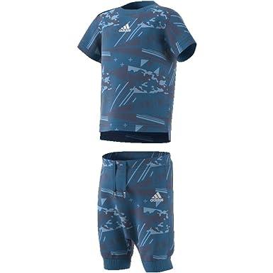 newest ad22d 5cf69 adidas Infants Boys Kids Training Printed Summer Set Running Tracksuit  (18-24 Months