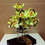 Lily-Garden-Artificial-9-Orchid-Flowers-Silk-Floral