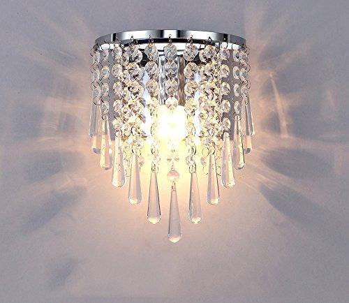ALUS- European Luxury Crystal Bedroom Living Room Wall lamp Metal Light Body Crystal lampshade Wall lamp by Nice wall light