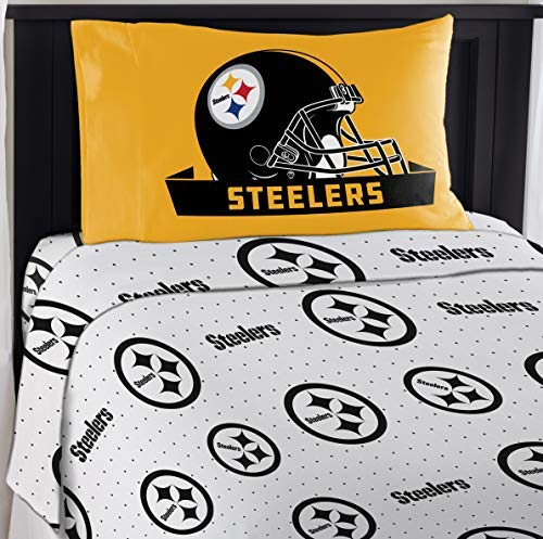 Northwest NFL Pittsburgh Steelers ''Monument'' Twin Sheet Set #242686799 by Northwest