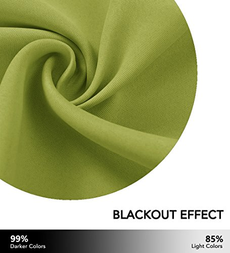NICETOWN Window Drapery Panels Blackout Curtains, Window Treatment Thermal Insulated Solid Grommet Blackout Drapes for Bedroom (Set of 2 Panels,42 by 72 Long, Fresh Green) - bedroomdesign.us