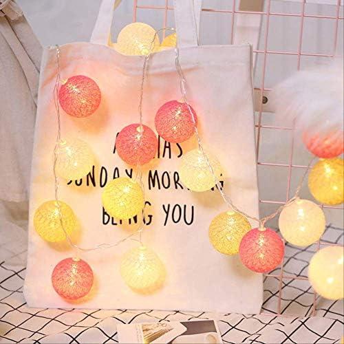 ATNEETIndoor Cotton Garland BallLichterkettefür Weihnachtsferien Hochzeitsfeier 4.5M30LED-Batterie Orange
