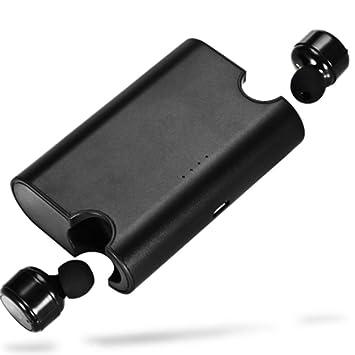 YA Auriculares Bluetooth 4.2, Mini Auriculares inalámbricos, con Caja de Carga para Apple y Android,Black: Amazon.es: Deportes y aire libre