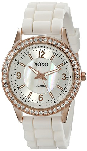 XOXO Women's XO8038 Rhinestone-Accented Watch (Women Watches Xoxo Silicone)