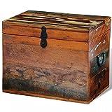 vidaXL Rustic Storage Trunk Box Reclaimed Solid Wood Storage Furniture Vintage Style