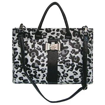 4fdc8cbeb4fa LYDC Black & White Leopard Print Fashion Laptop Briefcase Bag: Amazon.co.uk:  Luggage