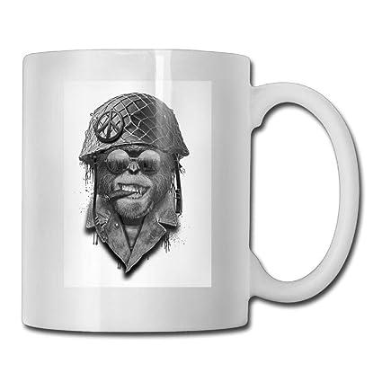 Taza de café divertida con casco militar 11 onzas regalo perfecto para familia y amigos
