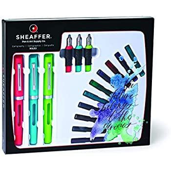 Amazon Com Sheaffer Calligraphy Maxi Kit With 3 Viewpoint Fountain