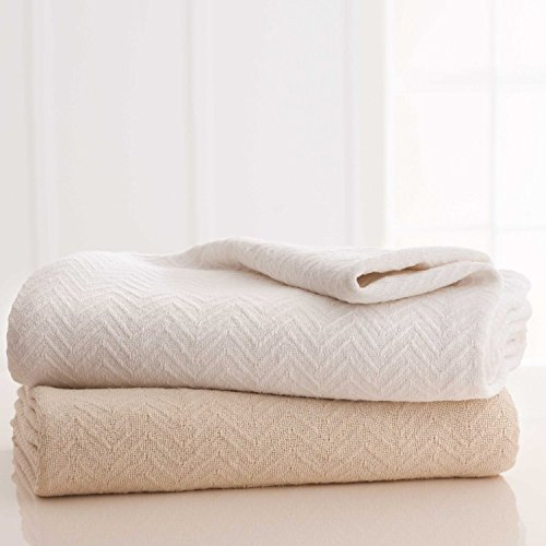 (GRAND PATRICIAN COTTON BLANKETS King 108x90 Natural 2/per case)