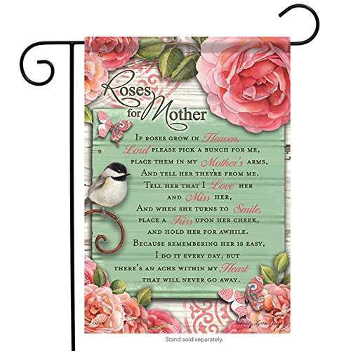 Carson Home Accents Garden Flag, Roses (Org Rose)