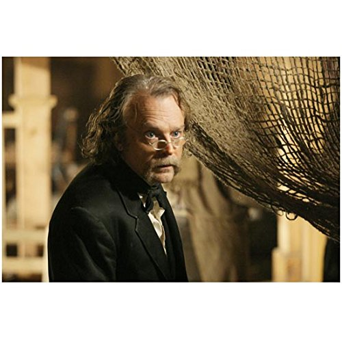 Deadwood (TV Series 2004 - 2006) (8 inch by 10 inch) PHOTOGRAPH Brad Dourif Next to Thread-Bare Curtain kn - Bare Threads