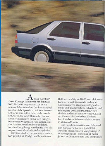 Amazon.com: 1986 Saab 9000 Turbo 16 Prestige Brochure German: Entertainment Collectibles